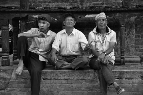 Nepali guys having a lazy one