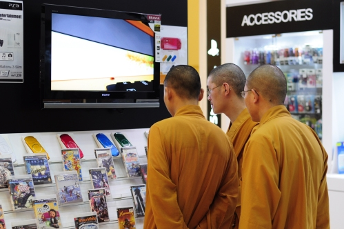 Even monks need Playstation 3 games as it seems